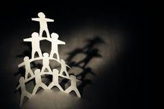 Pyramide humaine d'équipe Photographie stock libre de droits