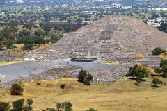 Pyramide III de lune, teotihuacan photos stock