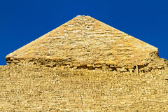 Pyramide Khafre top Stock Images