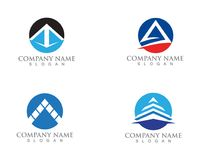 Pyramide logo and symbols template vector icons. Pyramide logo and symbols template vector Royalty Free Stock Images