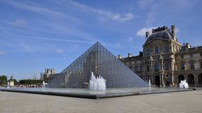 Pyramid Of Louvre Museum In Paris France Royalty Free Stock Photography