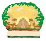 Pyramide maya, Chichen-Itza, Mexique Images libres de droits