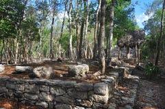 Pyramide maya, Coba, Mexique Image libre de droits