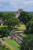 Pyramide maya dans Uxmal Photographie stock