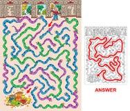 Pyramide maya - labyrinthe pour des enfants illustration libre de droits