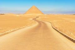Pyramide rouge dans Dahshur, Egypte photos stock