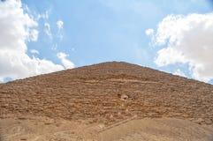 Pyramide rouge en Egypte images libres de droits
