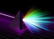 Pyramide sur le fond coloré de spectre illustration stock