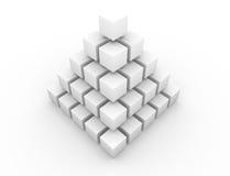 Pyramide symétrique Photographie stock libre de droits