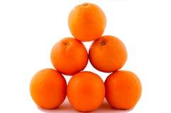 Pyramide van sinaasappelen Stock Foto's