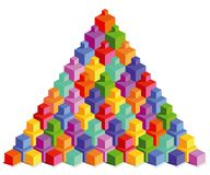 Pyramide von bunten Würfeln Lizenzfreies Stockbild