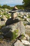 Pyramide von den Steinen stockfoto