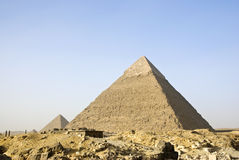 Pyramide von Giza, Kairo, Ägypten Stockfotografie