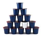 Pyramide von K-Cup Stockbild