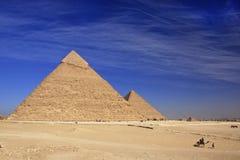 Pyramide von Khafre, Kairo Stockfotografie