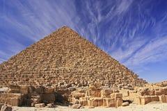 Pyramide von Menkaure, Kairo stockbild