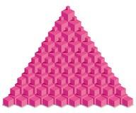 Pyramide von roten Würfeln Stockfoto