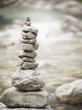 Pyramide of zen stones, wellness concept of balance and harmony Stock Image