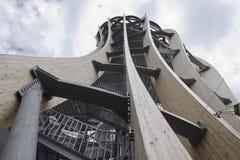 Pyramidekogel torn, Klagenfurt, Österrike Arkivbild