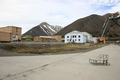 Pyramiden斯瓦尔巴特群岛挪威 免版税库存照片