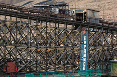 Pyramiden. The deserted russian mining town Pyramiden Royalty Free Stock Image