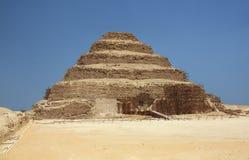 Pyramiden av Djoser i Egypten Arkivbild