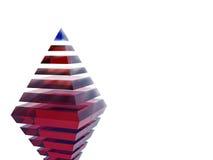 Pyramiden av framgång och ledarskap Arkivfoto