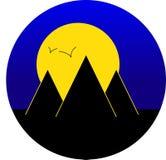 Pyramiden in der Nacht - Vektor Lizenzfreies Stockbild