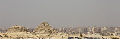 Pyramiden in der Wüste von Ägypten Giseh Lizenzfreies Stockbild