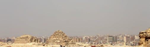 Pyramiden in der Wüste von Ägypten Giseh Stockfotos
