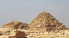 Pyramiden in der Wüste von Ägypten Giseh Lizenzfreie Stockbilder