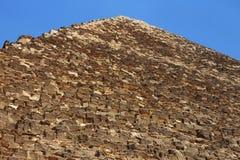 Pyramiden in der Wüste von Ägypten in Giseh Stockfotografie