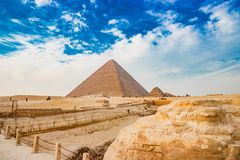 Pyramiden i Kairo, Egypten Royaltyfria Bilder