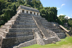 Palenque mayan fördärva-monument Chiapas Mexico Arkivfoto