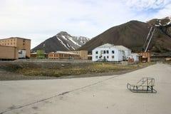 Pyramiden le Svalbard Norvège Photos libres de droits