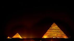 Pyramiden nachts Lizenzfreie Stockfotografie