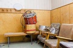 PYRAMIDEN, NORUEGA - 25 de junio de 2015: Interior del edificio arruinado Imágenes de archivo libres de regalías