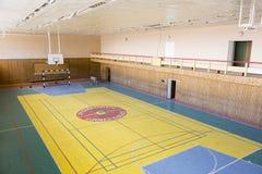 PYRAMIDEN, NORUEGA - 25 de junio de 2015: Interior del edificio arruinado Fotografía de archivo libre de regalías