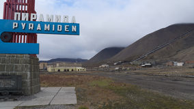 Pyramiden settlement. Svalbard Royalty Free Stock Photography