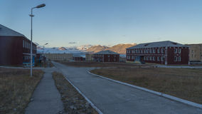 Pyramiden settlement. Svalbard Royalty Free Stock Images