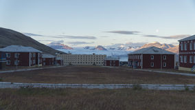 Pyramiden settlement. Svalbard Stock Image