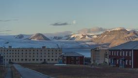 Pyramiden settlement. Svalbard Royalty Free Stock Photo
