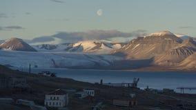 Pyramiden settlement. Svalbard Stock Images