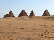 Pyramiden in Sudan. Lizenzfreie Stockfotos