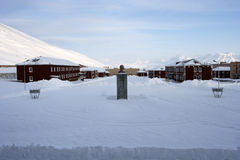 In Pyramiden, Svalbard. Stock Images