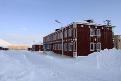 In Pyramiden, Svalbard. Stock Photo