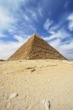 Pyramiden von Giseh - Pyramide von Khafre in Ägypten Lizenzfreie Stockbilder