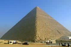 Pyramiden von Giza, Ägypten Stockbild