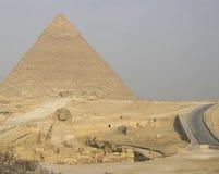 Pyramiden von Giza Große Pyramiden von Ägypten Das 7. Wunder der Welt Alte Megalithe Lizenzfreies Stockbild