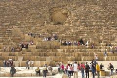 Pyramiden von Giza Große Pyramiden von Ägypten Das 7. Wunder der Welt Alte Megalithe Stockbilder